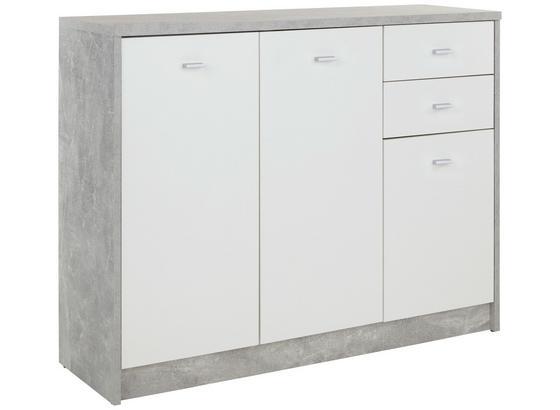 Kommode B 109,1cm 4-You New, Beton Optik/Weiß - Schwarz/Weiß, MODERN, Holzwerkstoff (109,1/85,4/34,6cm)