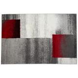 Webteppich Florence 160x230 cm - Beige/Rot, KONVENTIONELL, Textil (160/230cm) - Ombra