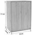 Kommode B:74cm San Remo Eiche/ Holzdekor - Dunkelbraun/Weiß, MODERN, Holzwerkstoff (74/111,4/34,6cm)