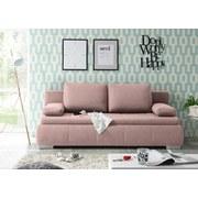 Schlafsofa mit Bettfunktion und Bettkasten Norman Webstoff - Pink/Silberfarben, KONVENTIONELL, Holzwerkstoff/Textil (208/95/105cm) - Carryhome