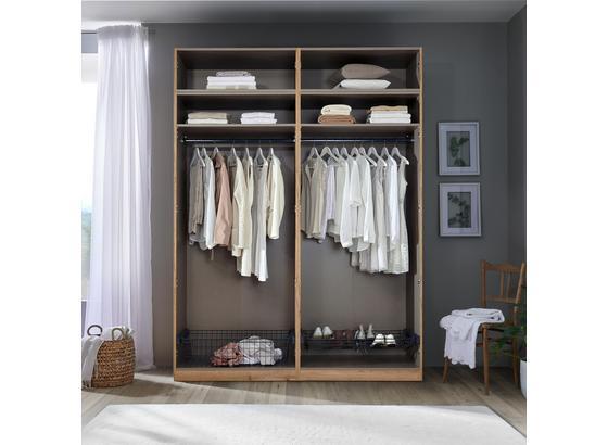 Kleiderschrank Unit Offener Schrank,breit ca.182cm - Weiß, MODERN, Holzwerkstoff (182,2/242,2/56,5cm) - Ombra
