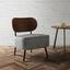 Kreslo Jonas - sivá/farby vlašského orecha, Moderný, kompozitné drevo/textil (58/72/64cm) - Modern Living
