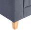 Schlafsofa Levi B: 208 cm - Naturfarben/Grau, MODERN, Holz/Textil (210/85/88cm) - Ombra