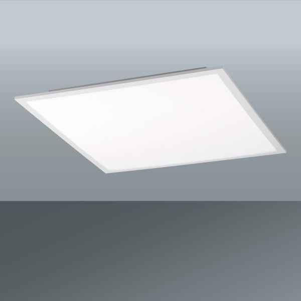 Led Stropná Lampa Flat - biela, Moderný, umelá hmota/kov (30/30/5,6cm)