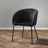 Stolička Vani - čierna, Moderný, kov/textil (61/81/51cm) - Modern Living