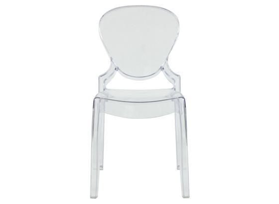 Stolička Hannah - transparentná, Design, umelá hmota (48/90/53,5cm)