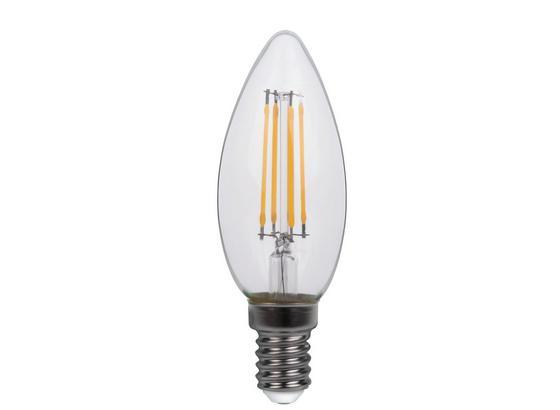 Led Žárovka 10583-2k, E14, 4 Watt - čiré, kov/sklo (3,5/9,8cm)