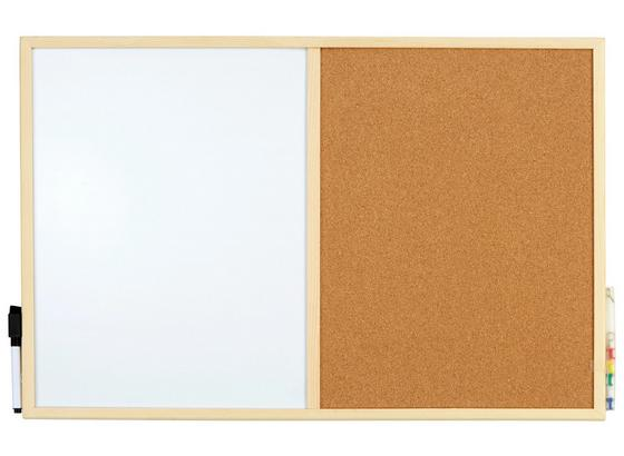 Pinnwand Felicia 40x60 - Naturfarben, KONVENTIONELL, Holz (60/40cm)