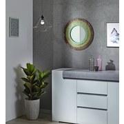Wandspiegel Mosaik Ø 56 cm Rot/gelb/grün - Gelb/Rot, MODERN, Glas/Holzwerkstoff (56/3cm)
