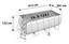 Stahlrahmenpoolset Power Steel Rectangular 412 X 201 X 122 cm - Grau, Kunststoff/Metall (412/201/122cm) - Bestway