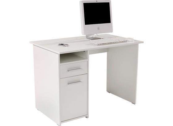 Psací Stůl Palermo - bílá, Moderní, kompozitní dřevo (110/74/60cm)