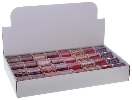 Geschenkband 6x270 cm - Rot/Goldfarben, KONVENTIONELL, Textil (270cm)