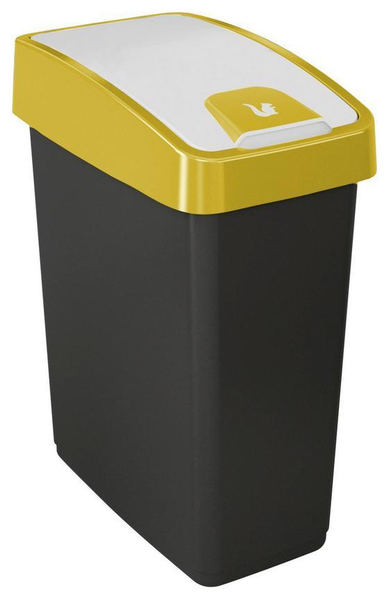 Abfalleimer Magne - Gelb/Graphitfarben, Kunststoff (39,5/24/47,5cm)