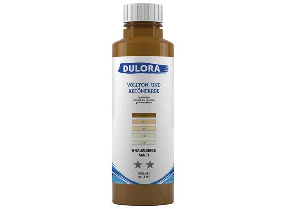 Abtönfarbe 500ml Braunbeige - Beige/Braun, Kunststoff (0,500l) - Dulora