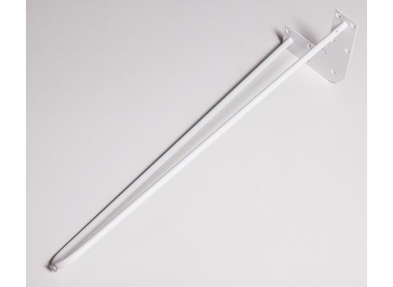 Tischgestell Hairpin H 71cm Weiß - Weiß, Basics, Metall (70/71cm)