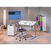 Jugenddrehstuhl Bonnie Grau - Chromfarben/Pink, Trend, Kunststoff/Textil (43/88-98/56cm) - Carryhome