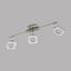 LED-Deckenleuchte Litago Crystal - Weiß/Nickelfarben, MODERN, Kunststoff/Metall (7,5/64cm)