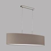 Hängeleuchte Pasteri - Taupe/Nickelfarben, MODERN, Textil/Metall (100/28/110cm)