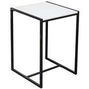 Beistelltisch Bali - Schwarz/Weiß, MODERN, Holzwerkstoff/Metall (39/58/39cm) - Homezone
