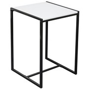 Beistelltisch Bali - Schwarz/Weiß, MODERN, Holzwerkstoff/Metall (39/58/39cm)