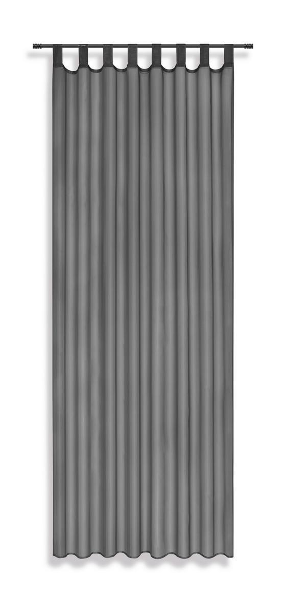 Készfüggöny Utila - Sötétszürke, konvencionális, Textil (140/245cm) - Luca Bessoni