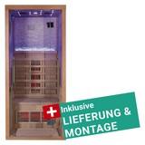 Infrarotkabine Stockholm inkl. Lieferung & Montage - Naturfarben, MODERN, Holz (90/200/90cm)
