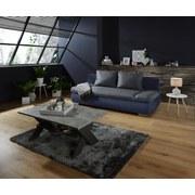 Sofa Cannes - Chromfarben/Blau, MODERN, Textil (202/97/71cm)