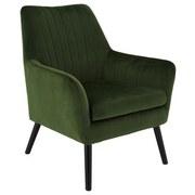 Relaxsessel Lounge B: 71 cm Grün - Schwarz/Grün, MODERN, Holz/Textil (71/85/71cm) - MID.YOU