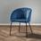 Stolička Vani - čierna/modrá, Moderný, kov/textil (63/81/51cm) - Modern Living