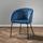 Židle Vani - modrá/černá, Moderní, kov/textil (63/81/51cm) - Modern Living