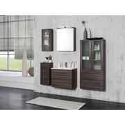 Waschtischkombi mit Soft-Close Mailand B: 60cm, Eiche Dekor - Eichefarben/Weiß, MODERN, Holzwerkstoff/Kunststoff (60/54/47cm)