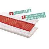 Topper Basic H2 90x200 - Weiß, KONVENTIONELL, Textil (90/200cm) - Primatex