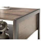 Couchtisch Holz mit Stauraum Steel 2, Eichefarben - Eichefarben, Basics, Holzwerkstoff/Metall (115/45/60cm)