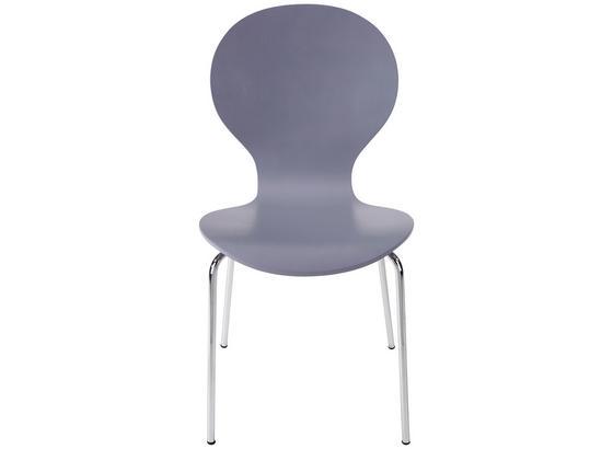 Stuhl Basic Grau - Chromfarben/Grau, KONVENTIONELL, Holz/Metall (45/88/50cm)