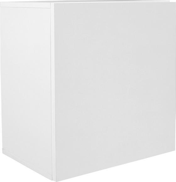 Falipolc Geno - Fehér, modern, Faalapú anyag (50/51/28cm)