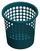 Papierkorb Petrol 10 Liter - Petrol, KONVENTIONELL, Kunststoff (25,5cm) - Plast 1