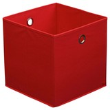 Faltbox Cubi - Rot, MODERN, Karton/Textil (32/32/32cm)