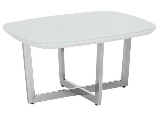 Konferenčný Stolík Oprah - biela/chrómová, Moderný, kov/kompozitné drevo (80/40/60cm) - Modern Living