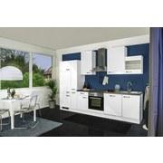 Küchenblock Alba 310 cm Weiß Hochglanz - Schieferfarben/Weiß, MODERN, Holzwerkstoff (310cm)