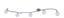 Kugel-Deckenleuchte Michelle - Nickelfarben, KONVENTIONELL, Metall (154cm) - Ombra