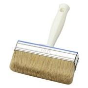 Versiegelungsbürste 10x3cm - Hellbraun/Silberfarben, KONVENTIONELL, Kunststoff/Weitere Naturmaterialien (21cm) - GEBOL