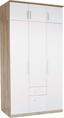 Ruhásszekrény Wien - Tölgyfa/Fehér, konvencionális, Faalapú anyag (136/212/56cm)