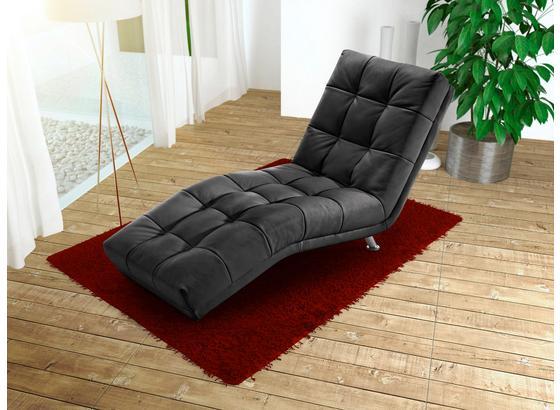 Ležadlo Isabella - čierna, Moderný, textil (68/88/164cm)
