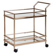 Servierwagen B: ca. 65,5 cm Goldfarben - Goldfarben, Design, Glas/Kunststoff (45/65,5/84cm) - MID.YOU