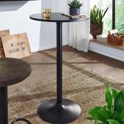 Bistrotisch H: 100 cm Schwarz - Schwarz, MODERN, Holzwerkstoff/Metall (60/100/60cm) - MID.YOU
