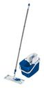 Bodenreinigungsset Combi Clean M Pure Blue - Blau/Weiß, MODERN, Kunststoff/Textil (27,5/25,5/46,5cm) - Leifheit