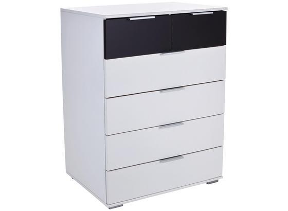 Kommode Virgo2 B:81cm Weiß/ Graphit Dekor - Graphitfarben/Weiß, MODERN, Holzwerkstoff (81/102/41cm)