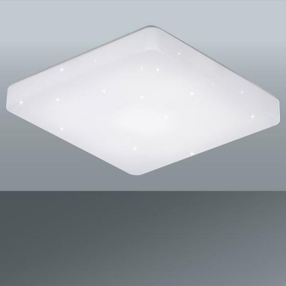 Led Stropná Lampa Starlight - biela, Moderný, umelá hmota (37/37/7,5cm)