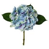 Hortensie Burgi Blau - Blau/Grün, Basics, Kunststoff/Textil (48cm)
