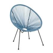 Zahradní Židle Uno - modrá/černá, kov/umělá hmota (72/88/77cm) - MÖMAX modern living